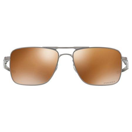 fe4e9cc9a615f Óculos de Sol Oakley Gauge 6 0OO6038 05 57 Prata Lente Marrom Espelhado  Polarizado