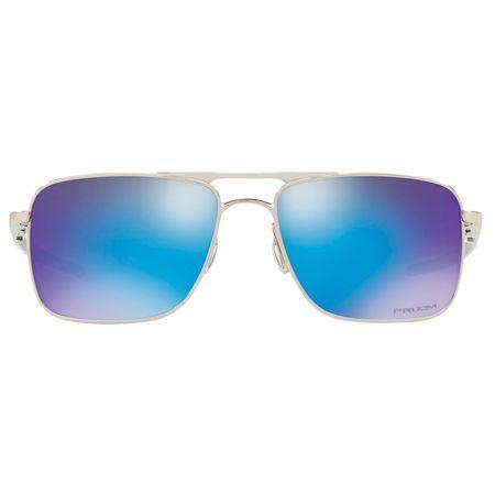 12dc8656968c3 Óculos de Sol Oakley Gauge 6 0OO6038 02 57 Cromado Lente Azul Espelhado
