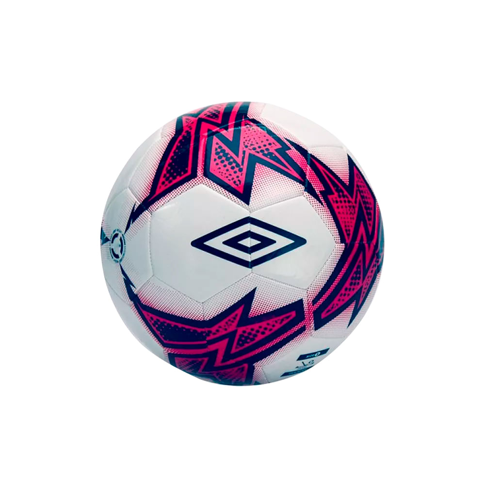 b86c79a010412 Bola Para Futebol de Campo Umbro Neo Target TSBE - Branco e Rosa