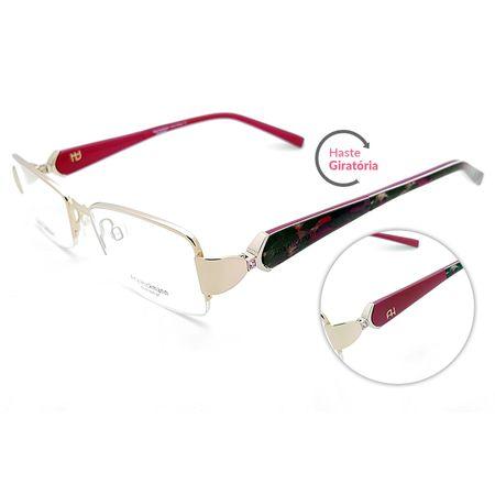 d88b1da7c Óculos de Grau Ana Hickmann AH1215 04B/51 Dourado