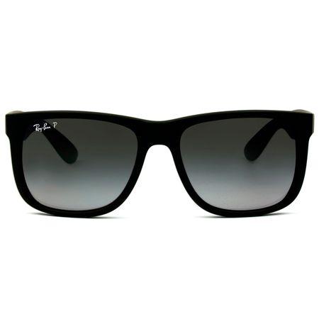 a7a059314c Óculos de Sol Ray Ban Justin RB4165L 622/T3/55 Preto Emborrachado Polarizado