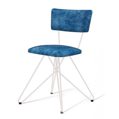 Cadeira Pop Azul Base Estrela Branca 49563 Sun House