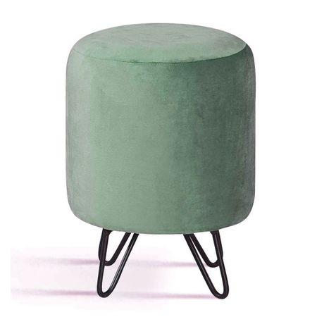 Puff Round Verde Base Estrela Preta 49878 Sun House
