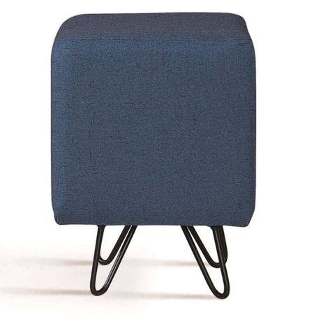 Puff Cube Azul Base Estrela Preta 49871 Sun House