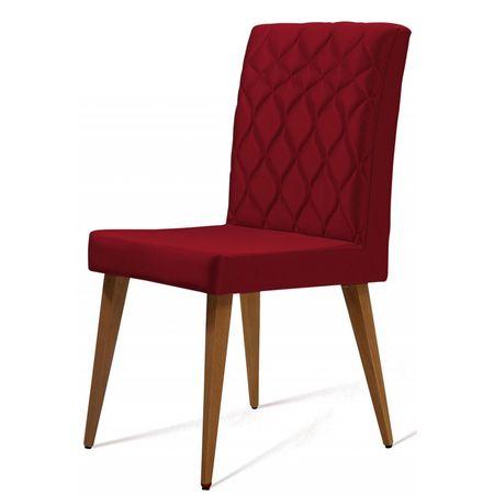 Cadeira Ouros Vermelha Base Castanho 50474 Sun House