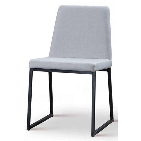 Cadeira Graty Cinza Base Preta 50732 Sun House